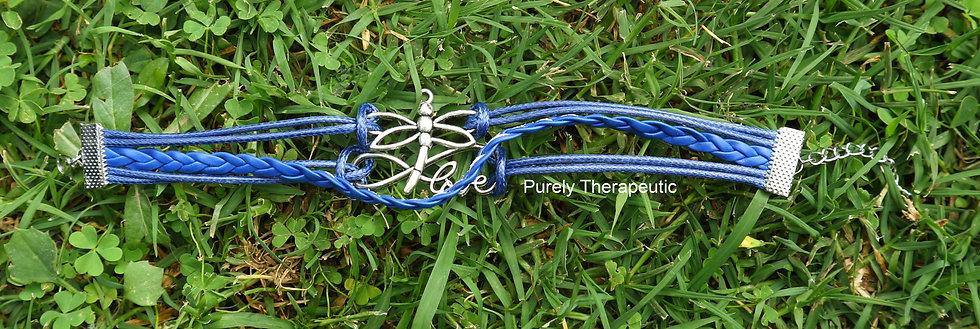 Blue Dragonfly wristband