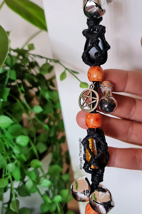Witch Protection Bells for Protection with Black Salt