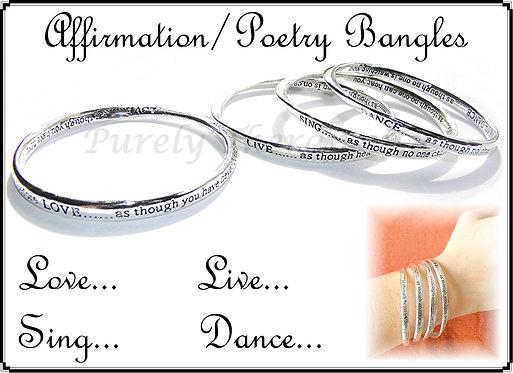 Inspirational Affirmation Poetry Bangle