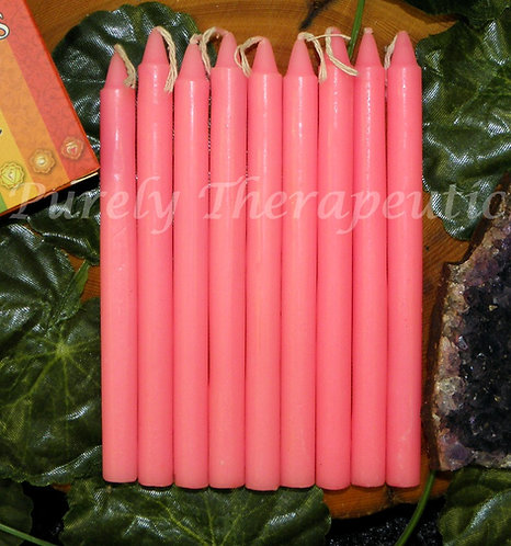 Set of 9 PInk Wish Spell Ritual Candles
