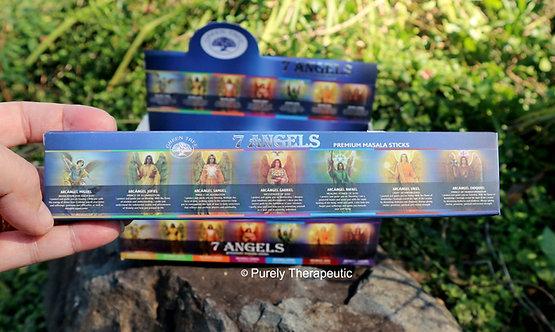 7 seven angels incense sticks green tree