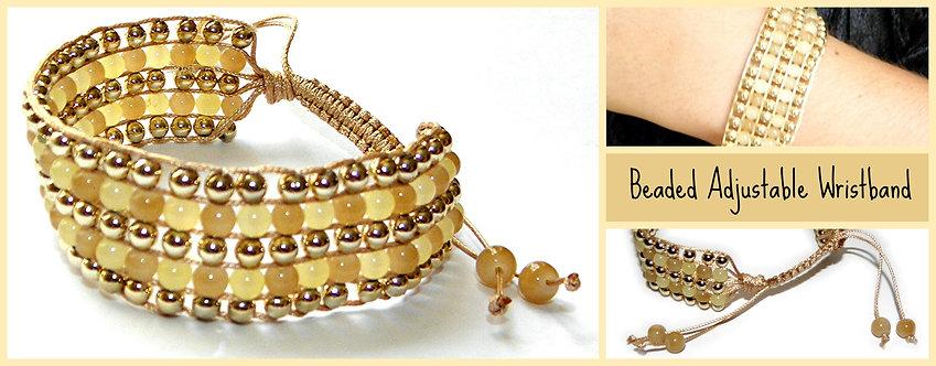 Woven Beaded Cuff Bracelet