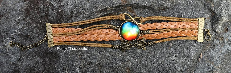 Cosmic Rainbow Wristband Bracelet