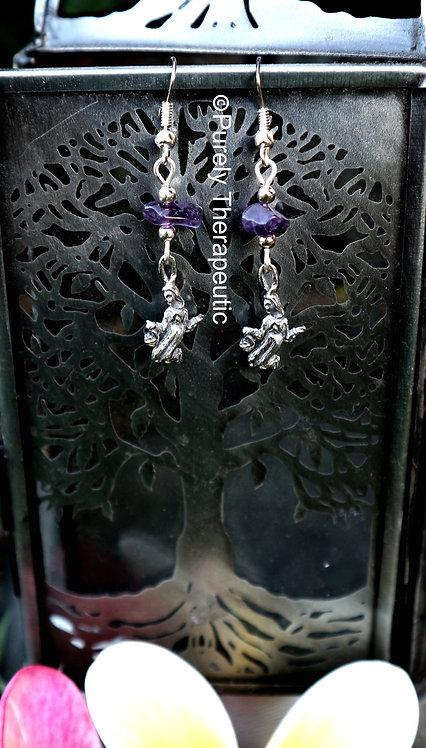 Virgo Zodiac Star Sign Gemstone Earrings