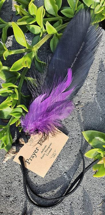 Black and Purple Prayer Feather