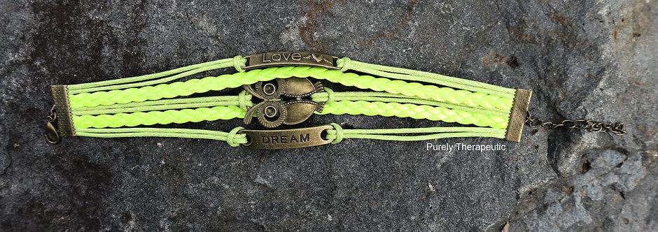 Owl Love Dream Wristband