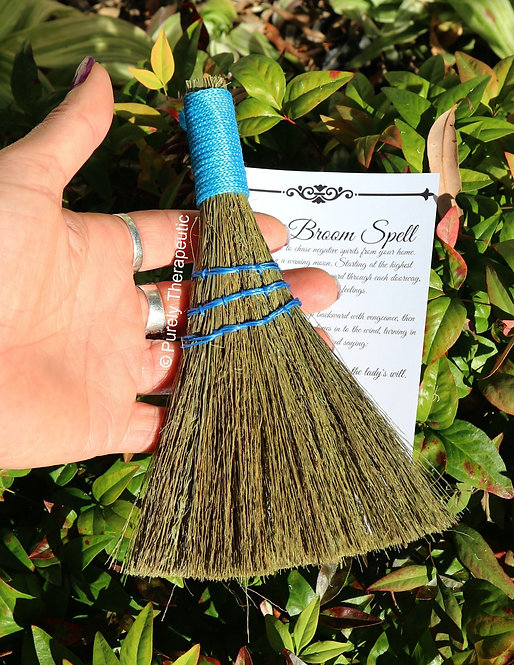 Smudging Cleansing Blue Heather Besom Broom