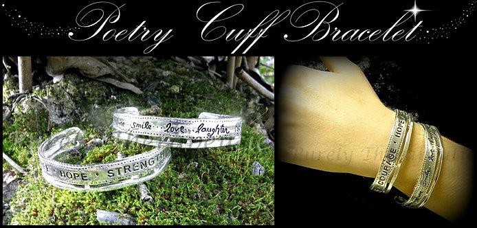 Inspirational Word Cuff Bracelet