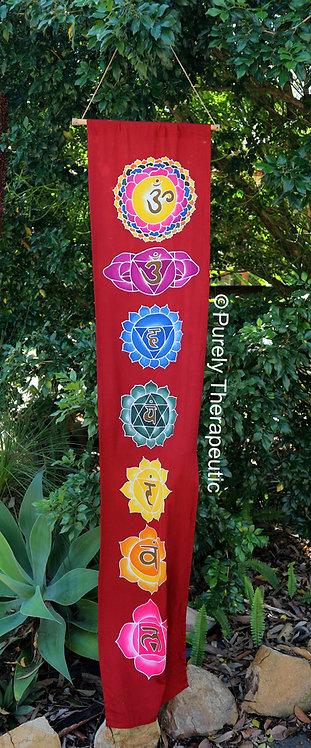 Burgundy Chakra Reiki Flag