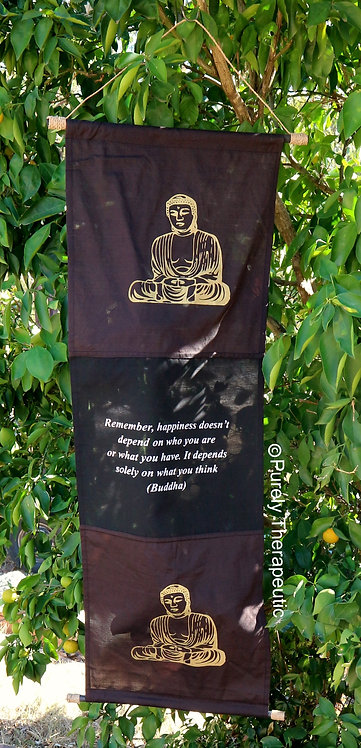 Buddha Inspirational Quote Wall Scroll Flag~135cm Color - Chocolate