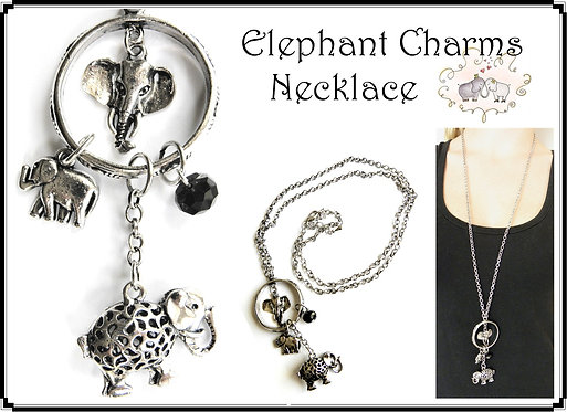 Elephant Charms Necklace