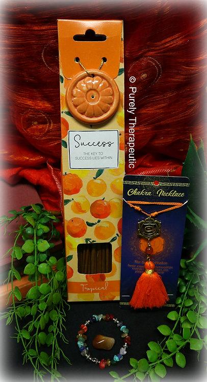Sacral Chakra Incense Pack Necklace