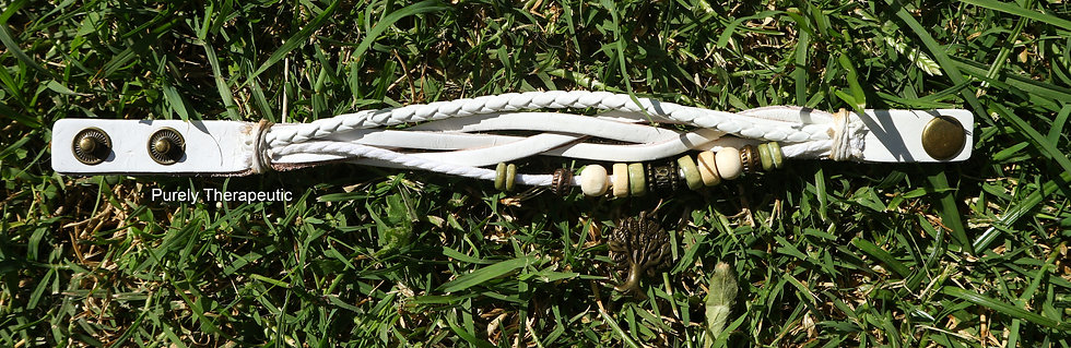 Tree of Life Wristband White