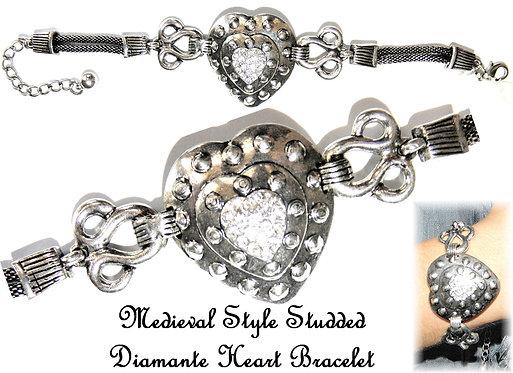 Medieval Studded Diamante Bracelet