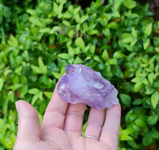 Raw Amethyst Point Gemstone Crystal