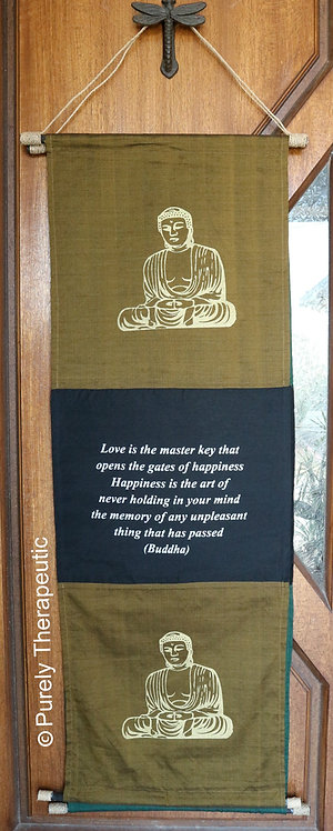 Buddha Wall Scroll Hanging Flag