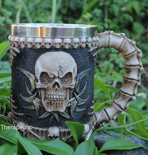 Skull Mug Vertabrae Handle