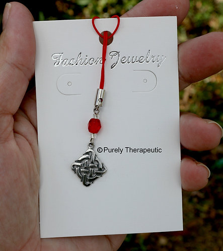 Celtic Design Mobile Phone Charm Red