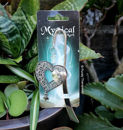 Heart Bookmark with Rose Quartz