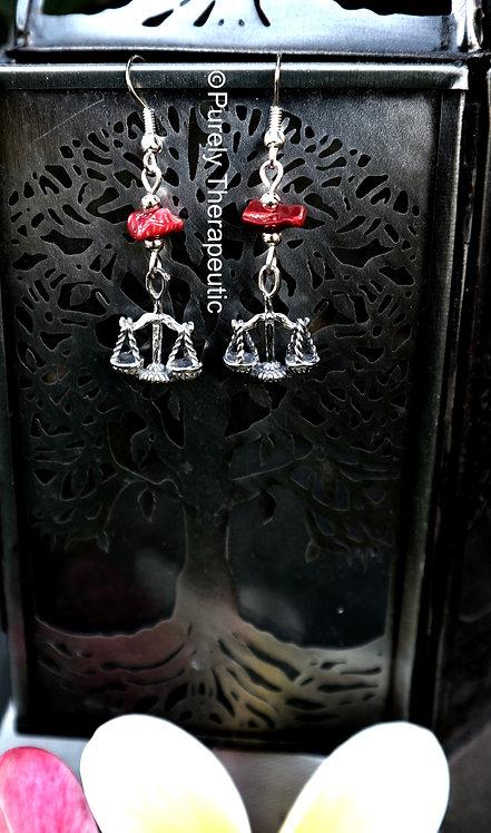 Libra Zodiac Star Sign Earrings