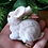 Gray Rabbit Ornament Figurine
