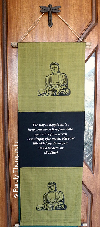 Inspirational Buddha Wall Hanging