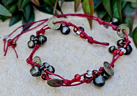 Feng Shui Good Luck Coin anklet