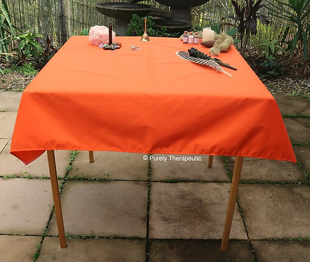 Orange Tarot Altar Table Cloth