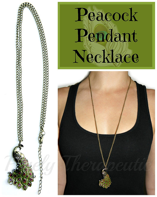 Peacock Pendant Necklace