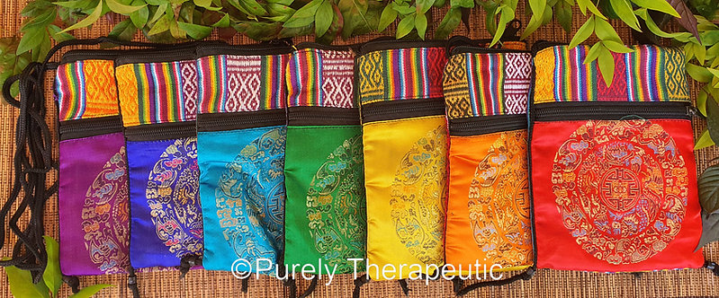 Set of 7 Chakra Bag Pouches with Mandala picture