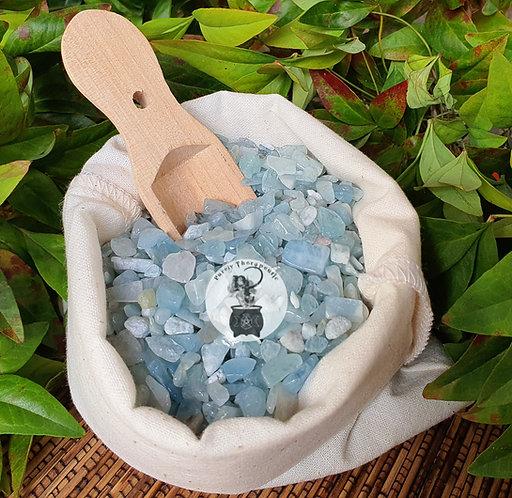 Aquamarine Gemstone Crystal Chips
