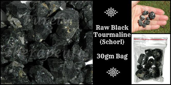 Raw Black Tourmaline Gemstone Crystal