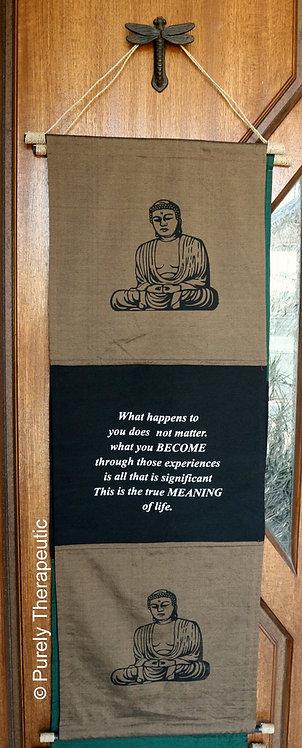 Buddha Inspirational Quote Scroll-Coffee (S)