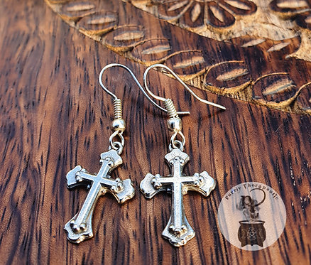 Cross Earrings-Traditional