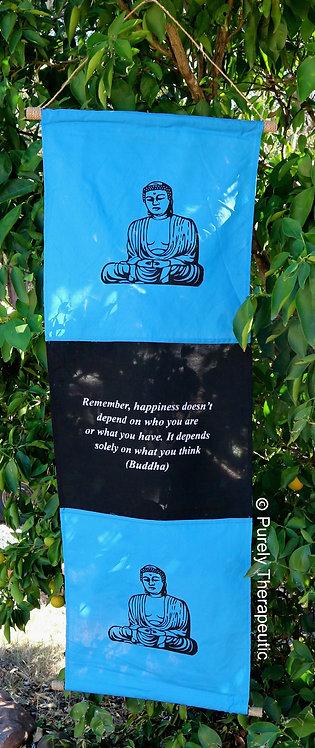 Blue Flag Buddha Inspirational