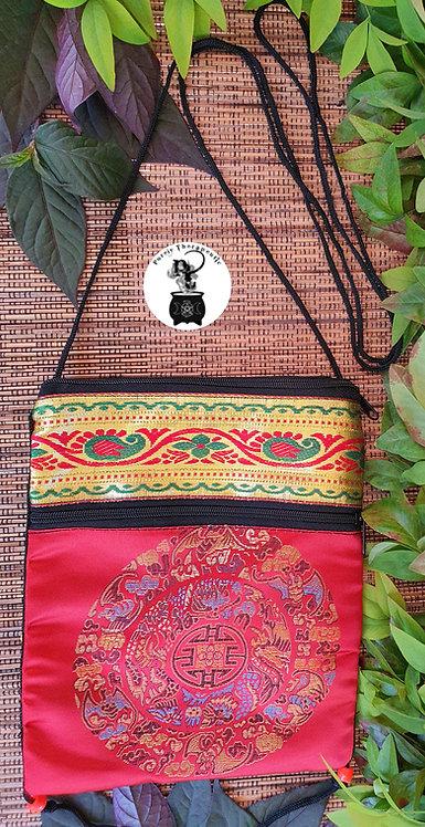 Red Hippy Boho Shoulder Bag