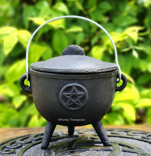 open pot style pentacle cauldron