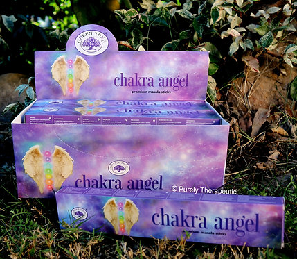 chakra angel green tree incense