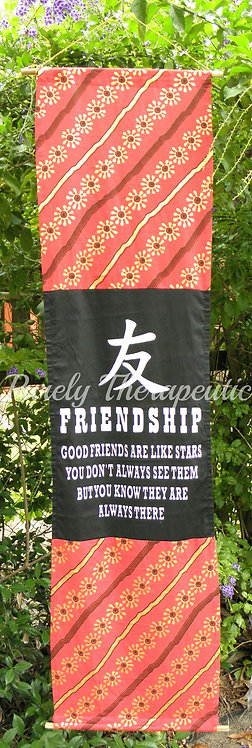 'Friendship' Affirmation Scroll Flag