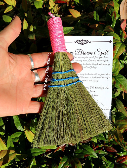 Smudging Cleansing Clearing Pink Heather Besom Broom