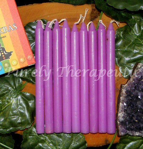 Set of 9 Purple Wish Spell Ritual Candles