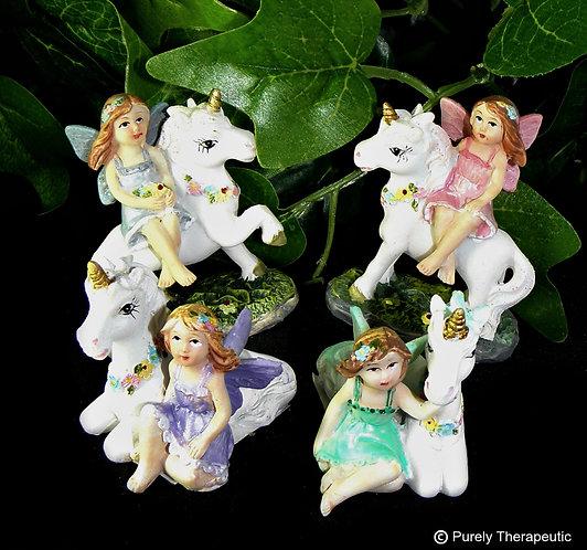 Fairy with Unicorn Figurine