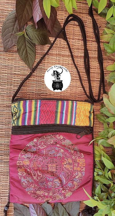 Burgundy Spell Bag Mandala Pouch