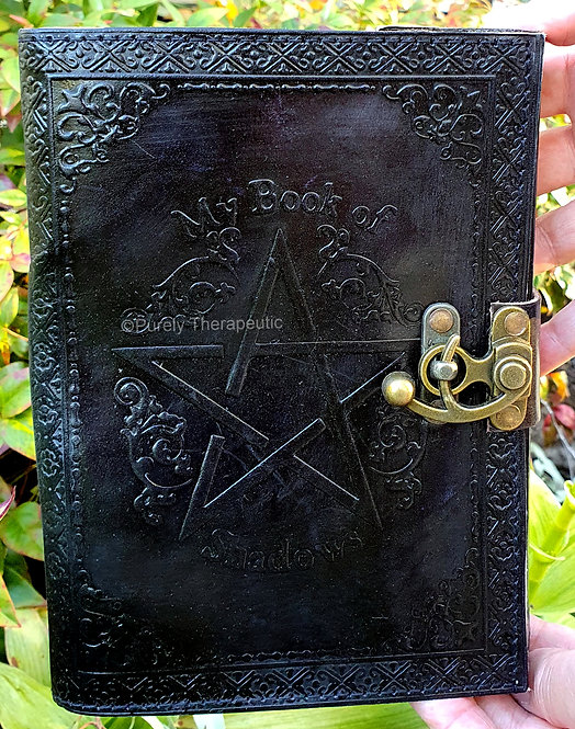 My Book of Shadows leather notebook journal
