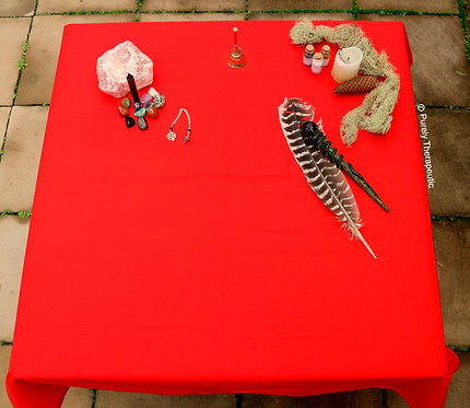Altar Tarot Table Cover Red