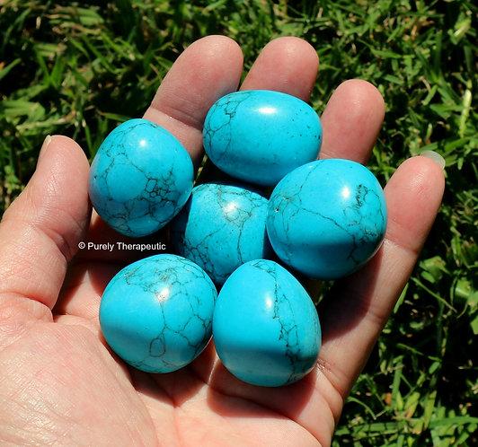 Blue Howlite Tumbled Gemstone Crystal