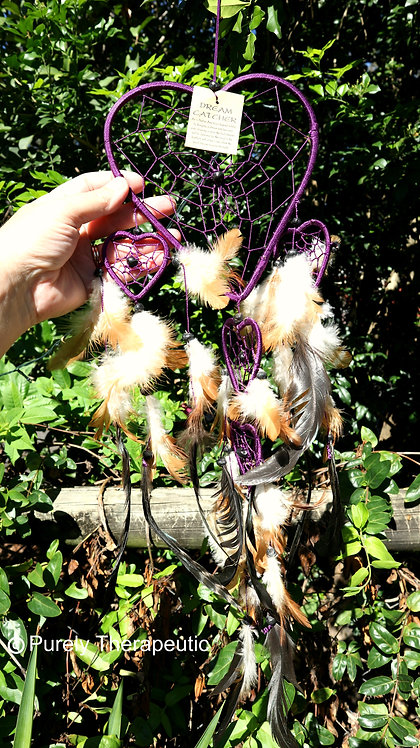 Love Heart Dream Catcher Purple