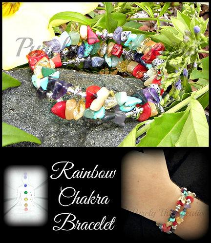 Rainbow Chakra Bracelet~Double