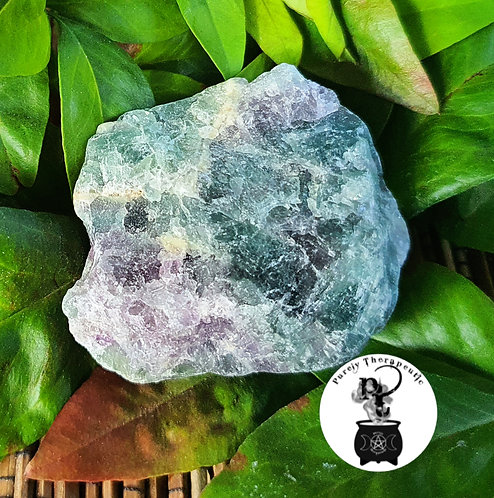 Mixed Fluorite Purple Green Gemstone