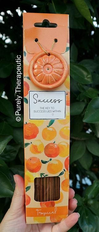 Success Tropical Incense Sticks and Ceramic Holder